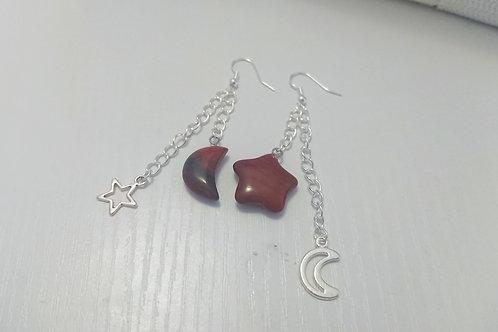 Red Jasper Night Sky Earrings
