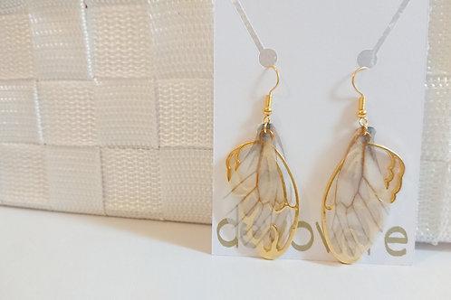 Wing Earrings - White