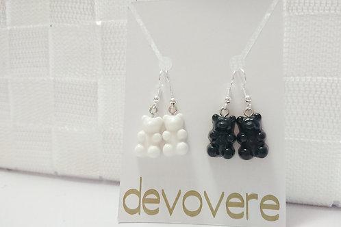 Black and White Gummy Bear Earrings