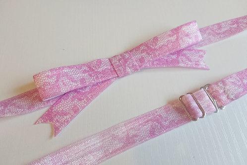 Lena Bow Set - Pink Lace