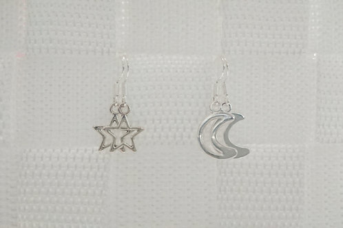 Mix and Match Star and Moon Earrings