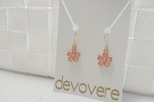 Pink Cherry Blossom Earrings