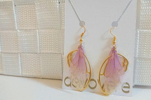 Wing Earrings - Purple