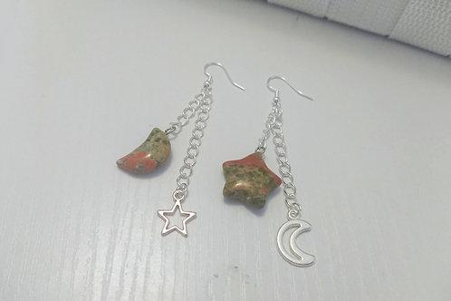 Unakite Night Sky Earrings