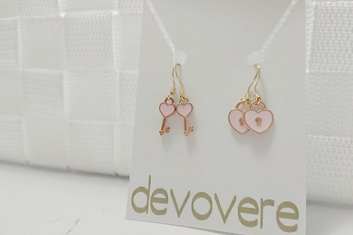 Mix and Match Lock and Key Earrings