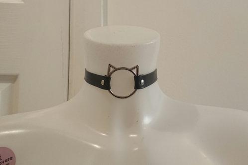 Faux Leather Kat Collar