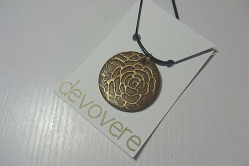 Brown Blooms Necklace