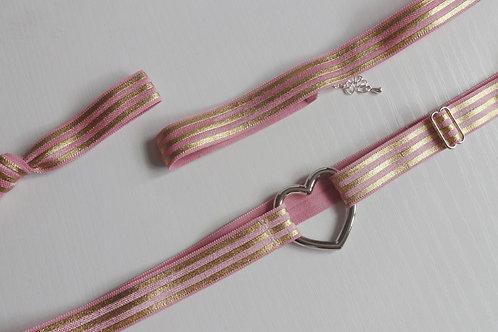 Ella Garter Set - Pink and Gold