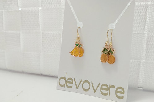 Mix and Match Bananas and Pineapples Earrings