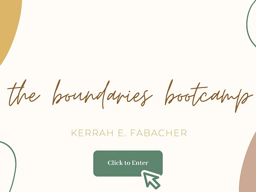 The Boundaries Bootcamp COURSE