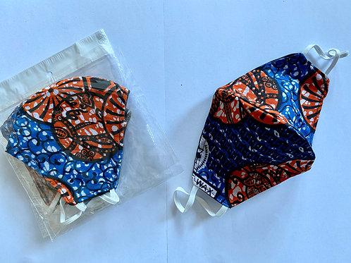 17 - Masque en tissu africain ( Wax )