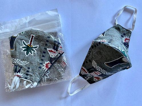 7 - Masque en tissu africain ( Wax )