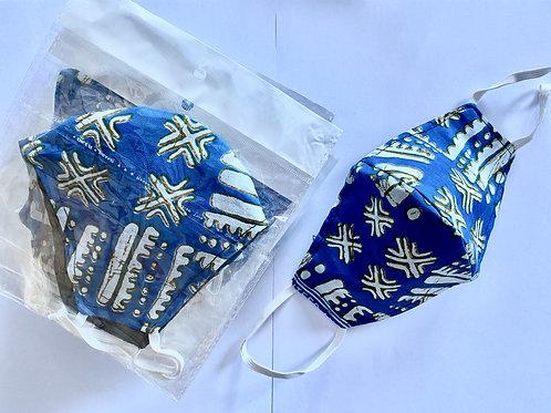 3 - Masque en tissu africain ( Wax )