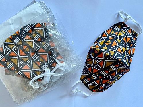 6 - Masque en tissu africain ( Wax )