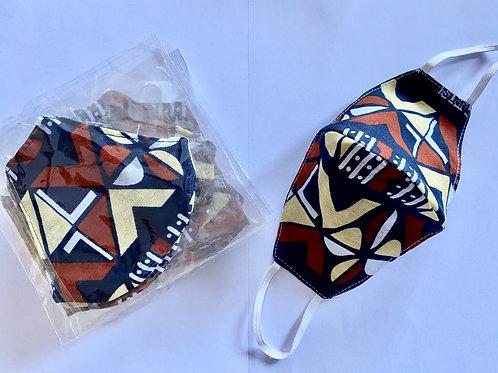8 - Masque en tissu africain ( Wax )