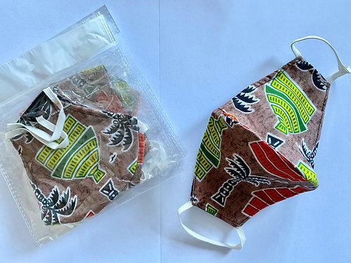 12 - Masque en tissu africain ( Wax )