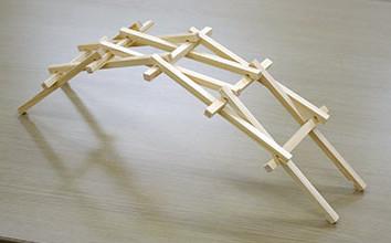 箸(ハシ)で橋(はし)をつくろう