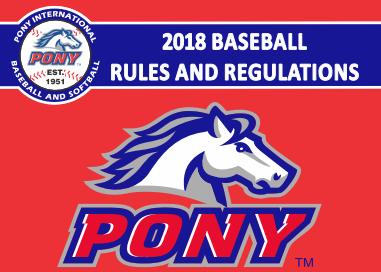 2018 Pony Baseball Rulebook