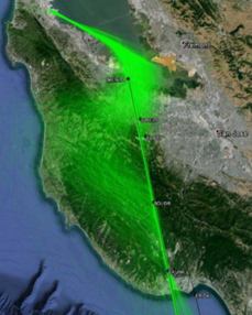 Quiet Skies NorCal / Save Our Skies Santa Cruz say that the proposed path does not fly over SLV or B