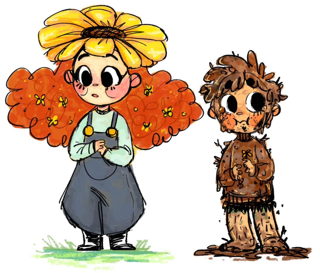 Flower Girl and Dirt Girl