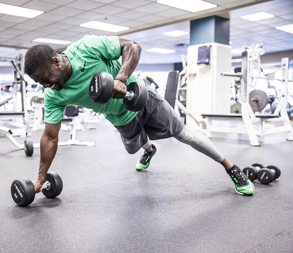 Kevin Hart Working out