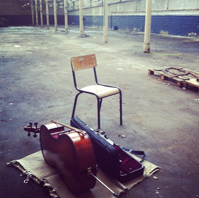 Making noises in an abandoned textile mi