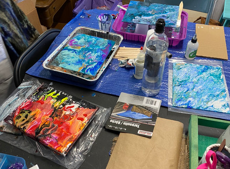 Paint pouring!