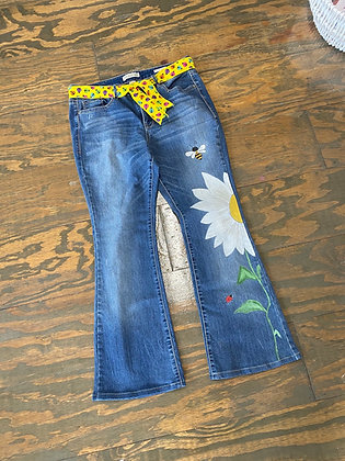 Upcycled Painted Jeans