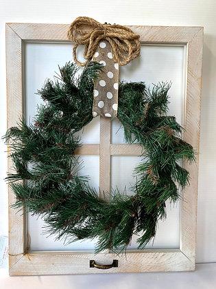 Farmhouse Style Window Wreath