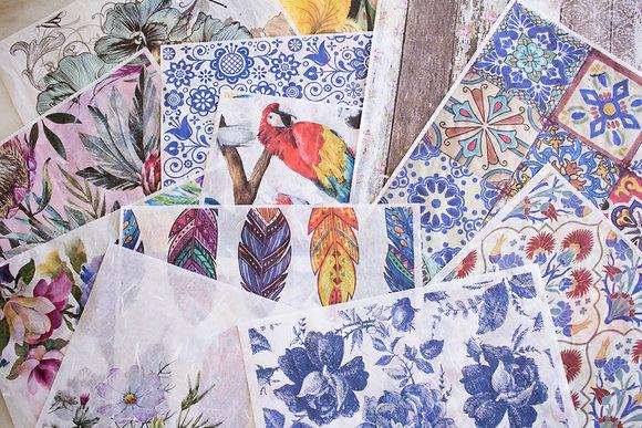 Belles & Whistles Rice Paper Decoupage