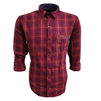NC JAC J 717 2019-RED MENS CASUAL SHIRT