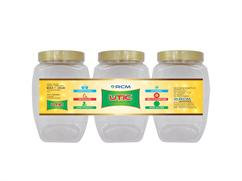 Anna Pet Jar 2000 ML (Set Of 3 Pcs )