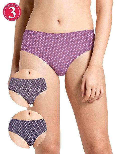 Narrow Inner Elastic Panty - Pack of 3 - KS033 - Pack7
