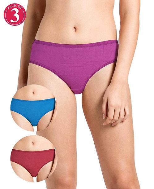 Printed Sandwich Elastic Panty Pack of 3 - KS023 - PACK 06