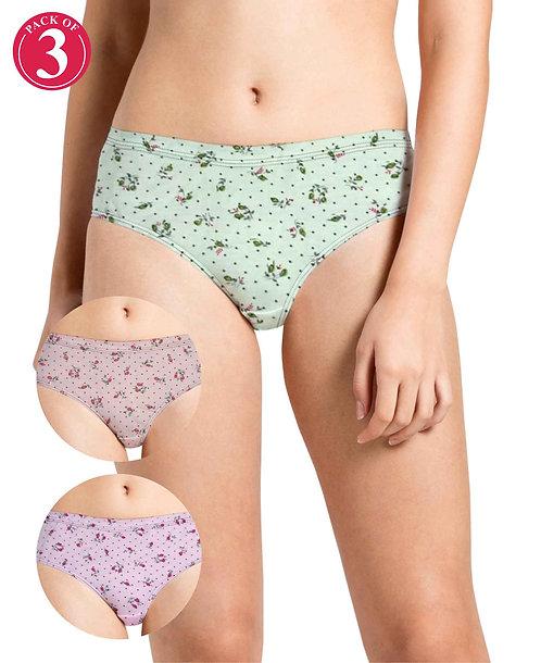 Printed Inner Elastic Panty Pack of 3 -KS004-Pack 36