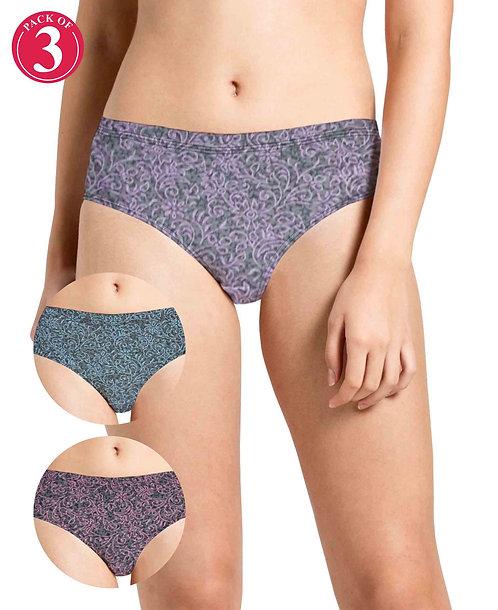Narrow Inner Elastic Panty - Pack of 3 - KS033 - Pack 6 - 3xl
