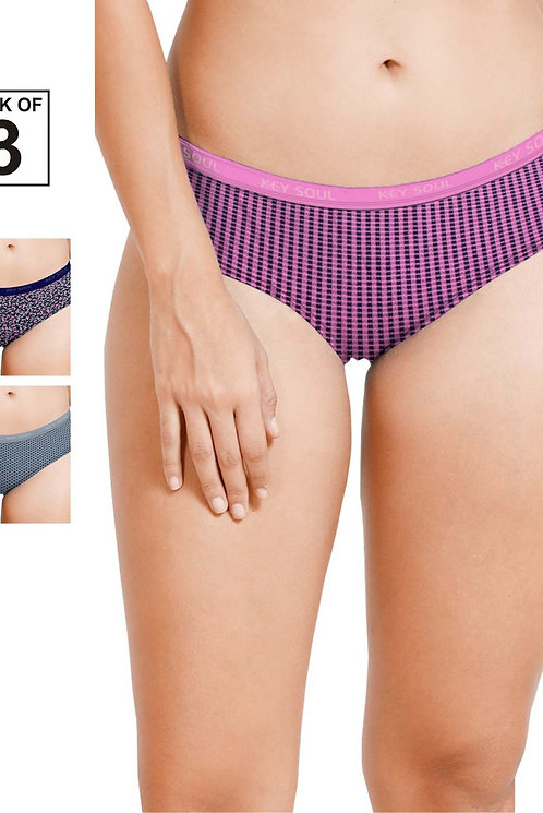 Printed Outer Elastic Panty Pack of 3 - KS002 - Pack - 30 - 3xl/105