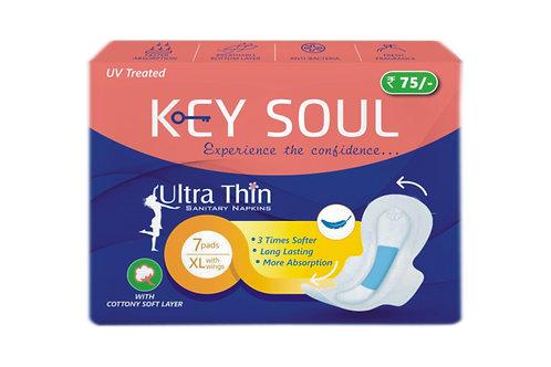 Key soul ultra thin sanitary pad-pack of 7 pad