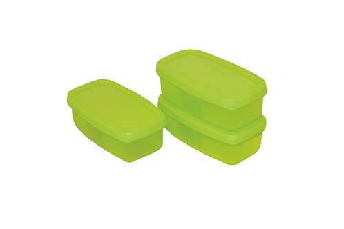 Small Food Container set 200 ml(Set Of 3) SHADE-GREEN