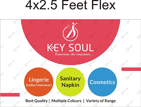 MULTI COLOUR -KEYSOUL FLEX :- 4*2.5 FEET
