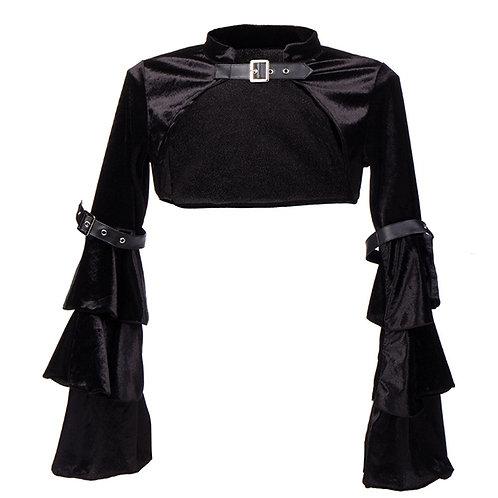 Women Steampunk Corset Jacket Medieval Victorian Retro Gothic Black Shrug
