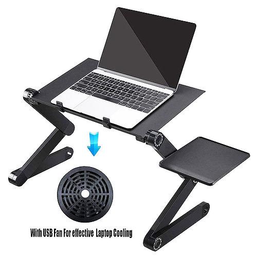 Overbed Table Aluminum Stand Laptop Desk Computer,Modern Computer Desk Office