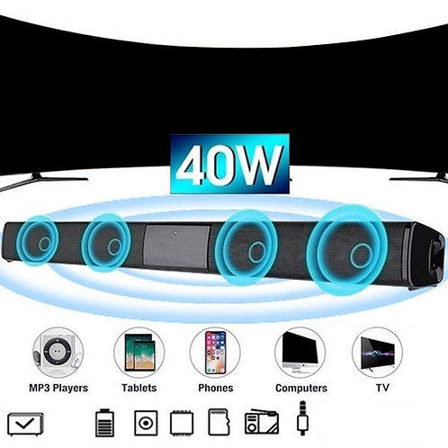 Sound Bar Speaker Wireless Music Speaker Home Theater Audio With Aux TF Card
