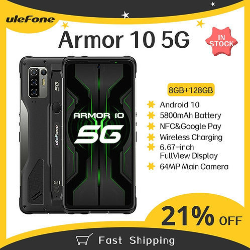 Ulefone Armor 10 5G Rugged Mobile Phone 8GB +128GB Android 10 Waterproof