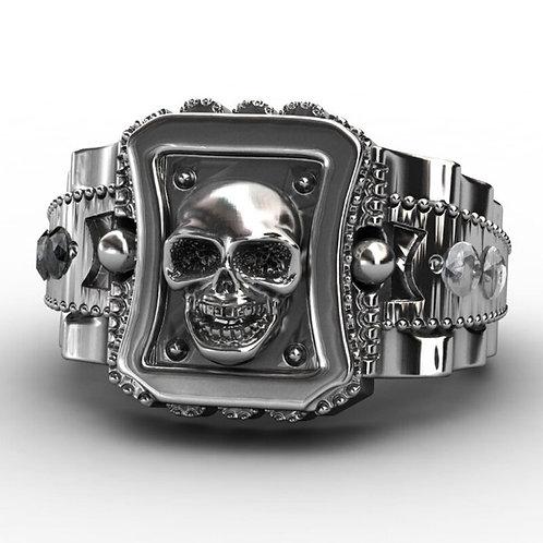 Hiphop Rock Roll Gothic Punk Skulls Big Rotating Bikers Bible Rings