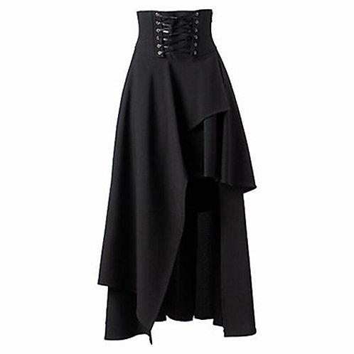 Skirt Women Lolita Strap Black Gothic Skirts Female Fashion High Waist