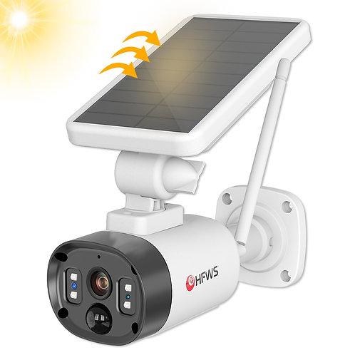 Hfws Wifi Cameras Solar Camera Wifi Cctv Camera With Solar Battery Powered