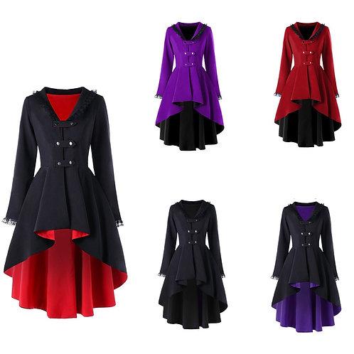 Gothic Steampunk Button Coat Victorian Coat  Blazer Outwear