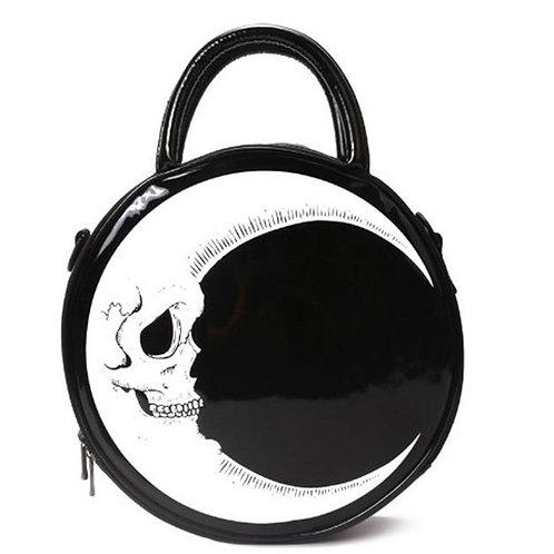 Women's Gothic Moon Skull Shoulder Bag Halloween Tote