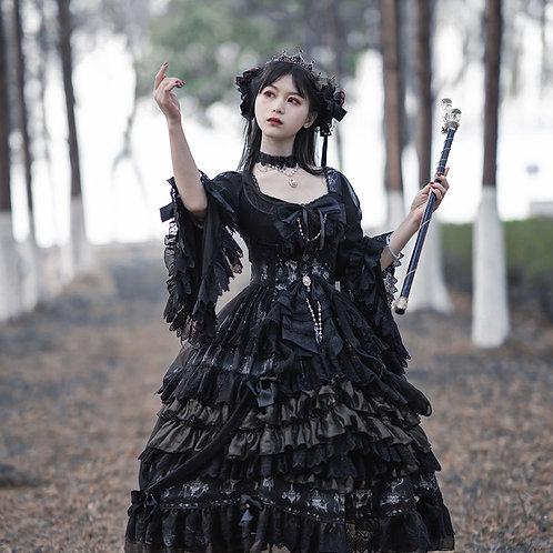 Luxury Chandelier ~ Gothic Long Sleeve Lolita OP Dress by OCELOT